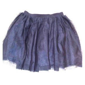 Navy H&M Glitter Tulle Tutu Girls Skirt as 4-6 Y